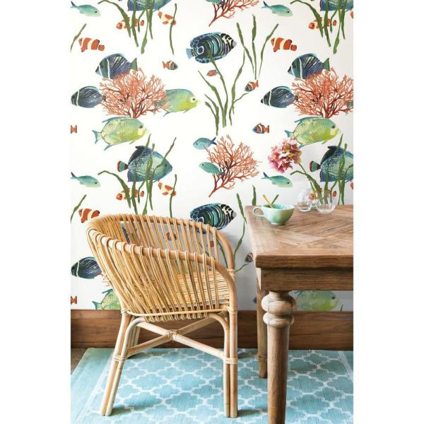 York Wallcoverings 45 sq. ft. Tropical Reef Peel and Stick