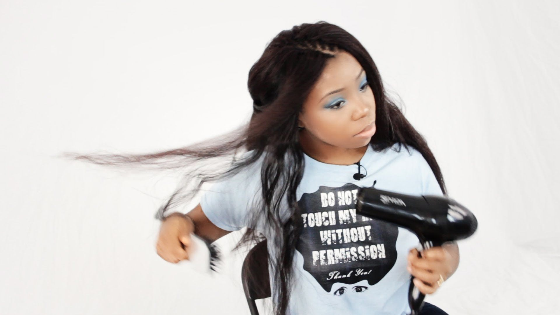 How To Straighten Synthetic Kanekalon Hair With A Blowout For