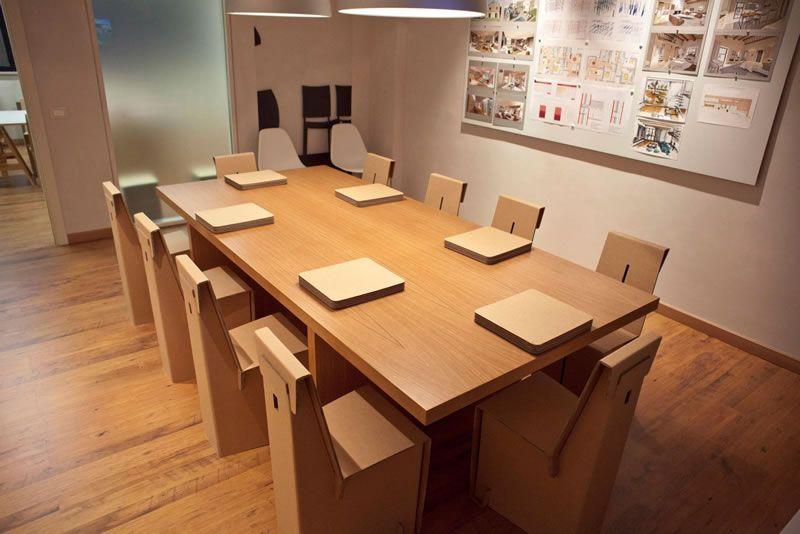 Arredamento Ufficio Ecologico : Studio kshop mobili cartone ecologico sostenibile design