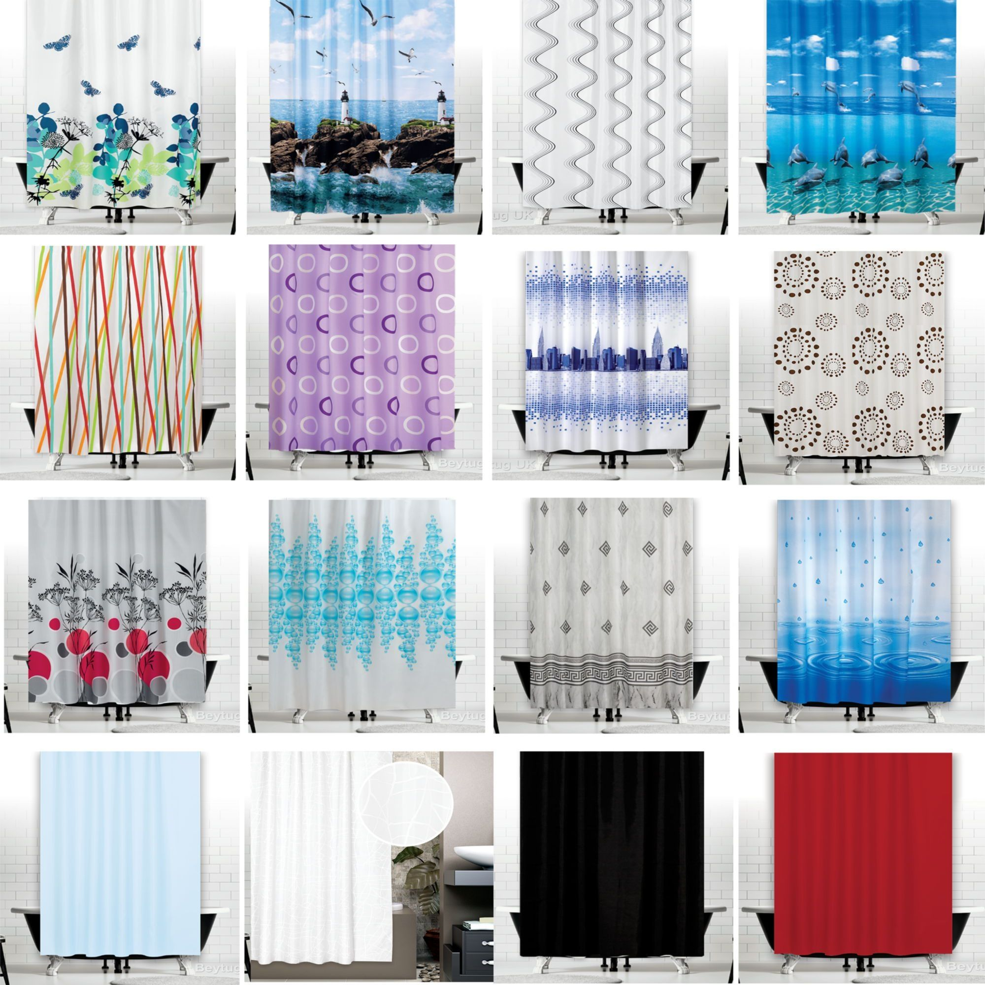 Extra long and extra wide fabric shower curtains shower curtain