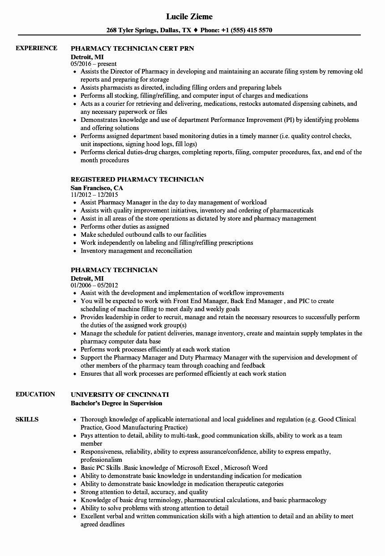 Pharmacy Tech Resume Samples New Pharmacy Technician Resume Samples Pharmacy Technician Pharmacy Tech Tech Job