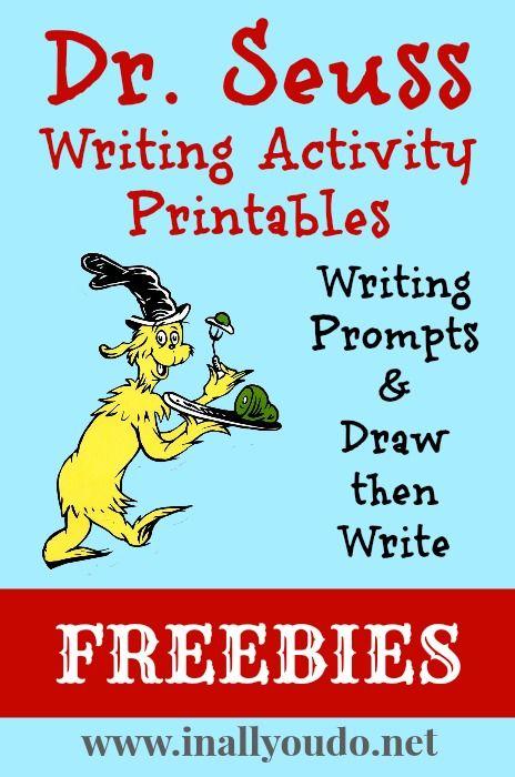 dr  seuss writing activities printables