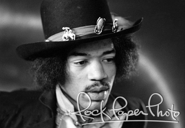 Jimi Hendrix by Dezo Hoffmann #JimiHendrix #Hendrix www.RockPaperPhoto.com