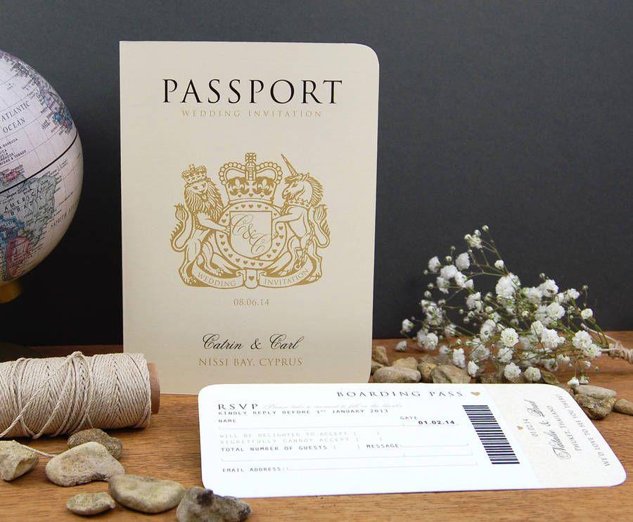 Passport To Love Travel Card Style Wedding Invitation | Wedding ...