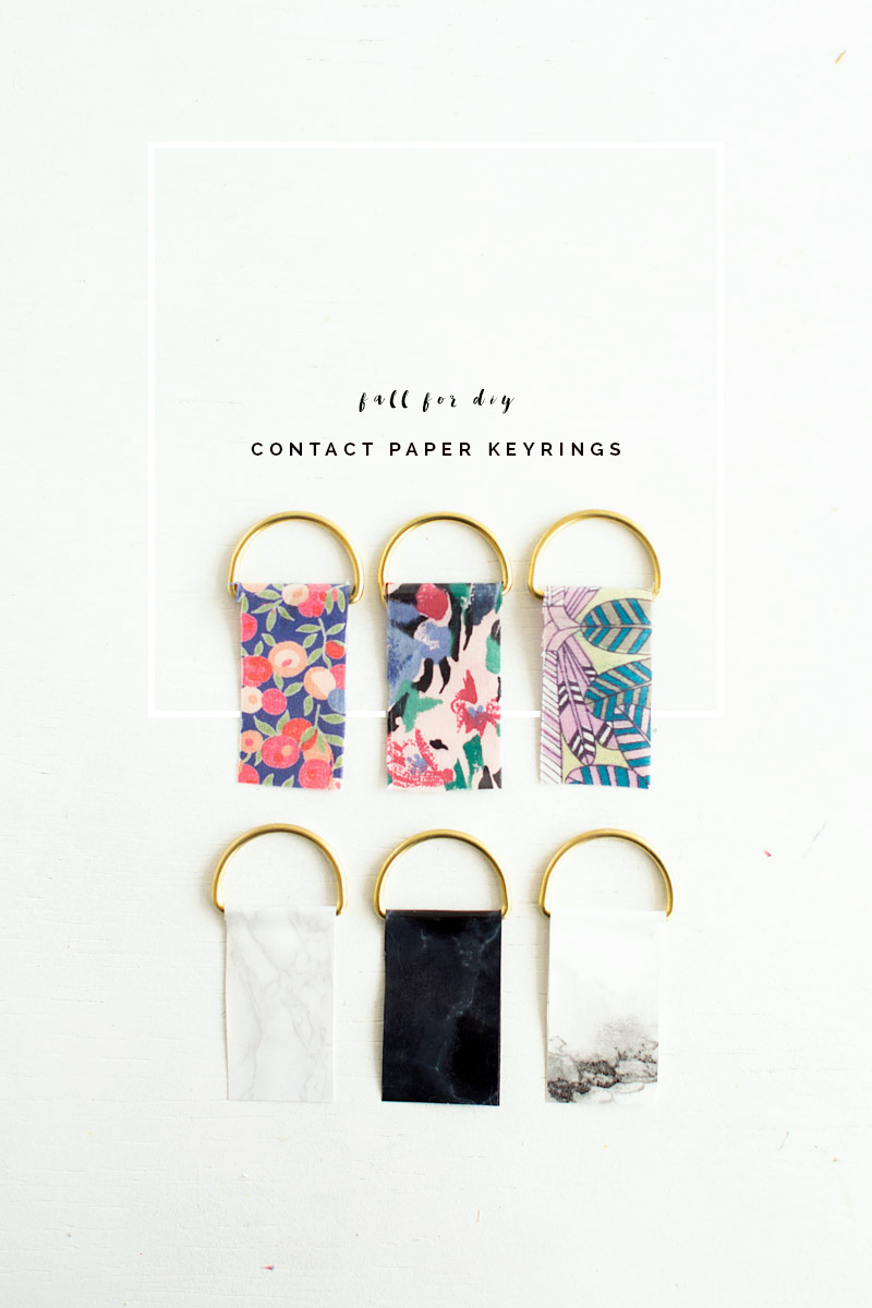 DIY Contact Paper Keyrings