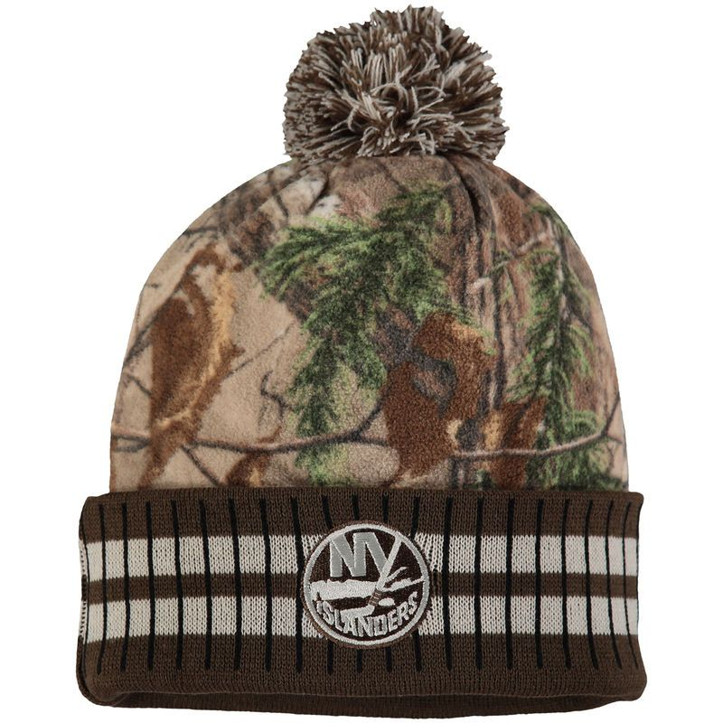 5f2eade2740 New York Islanders Old Time Hockey Realtree Xtra Cuffed Knit Hat With Pom -  Camo