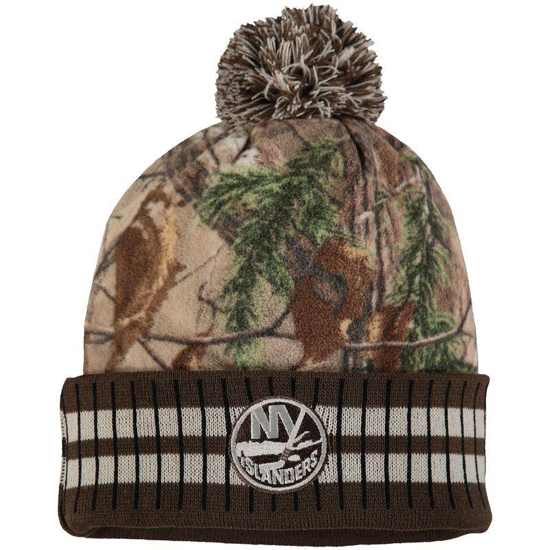 New York Islanders Old Time Hockey Realtree Xtra Cuffed Knit Hat With Pom -  Camo  5fe5032a5e4