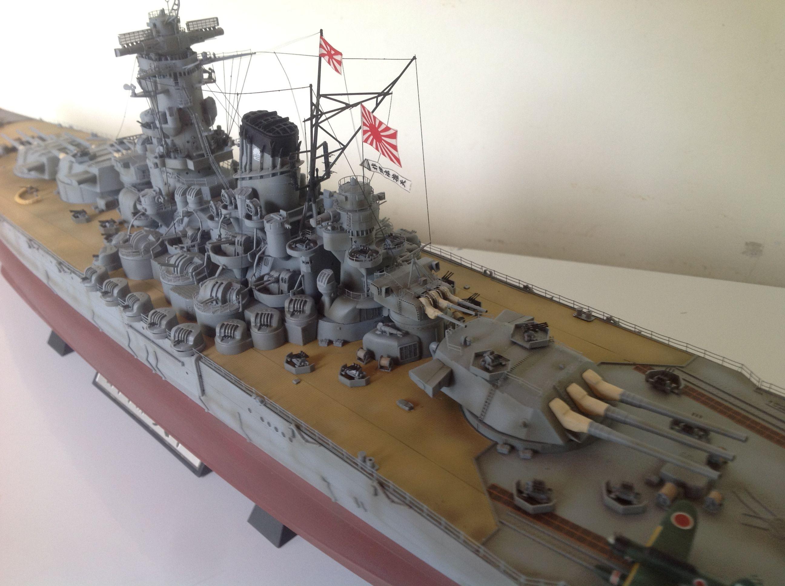 1/350 scale IJN Yamato | ademodelart ( 11th build )