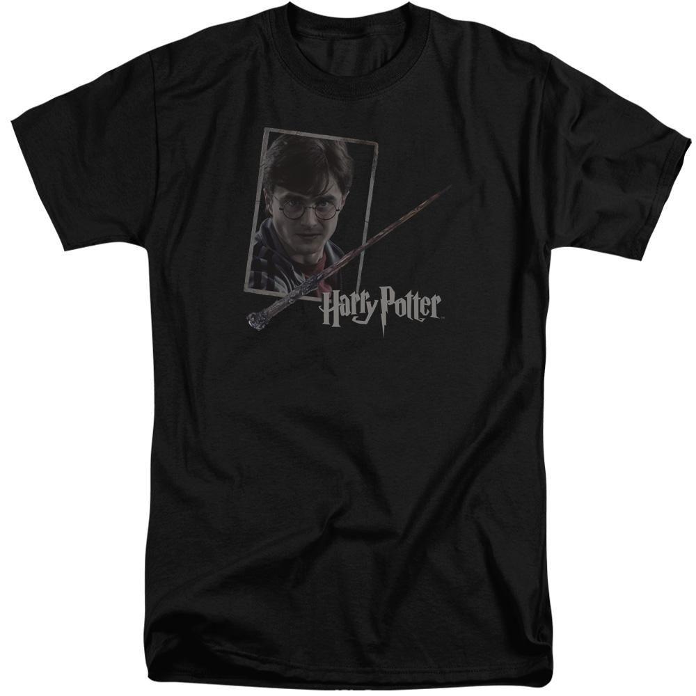 Harry Potter - Harry's Wand Portrait Short Sleeve Adult Tall