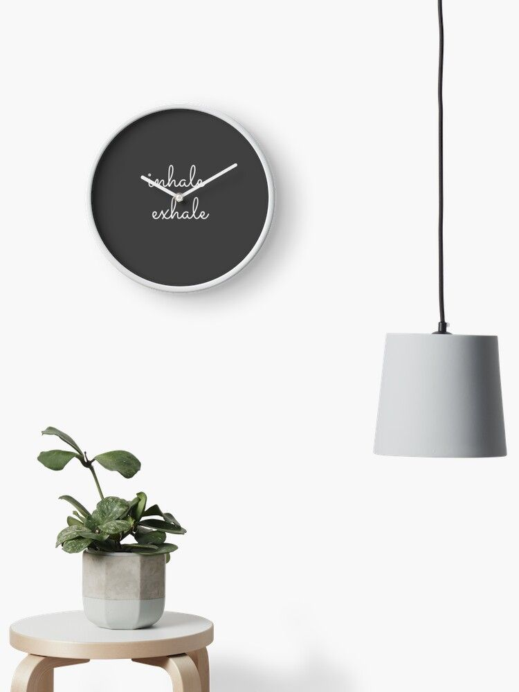 'Inhale Exhale' Clock by Mariusevic