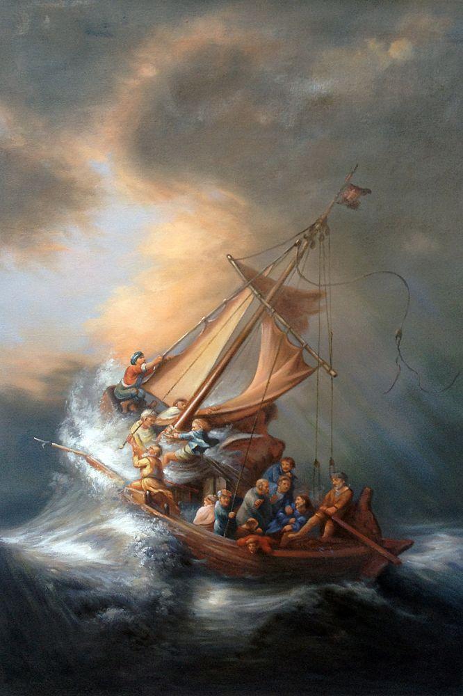 The Storm On The Sea Of Galilee Rembrandt At Overstockart Com Rembrandt Paintings Rembrandt Van Rijn Rijn