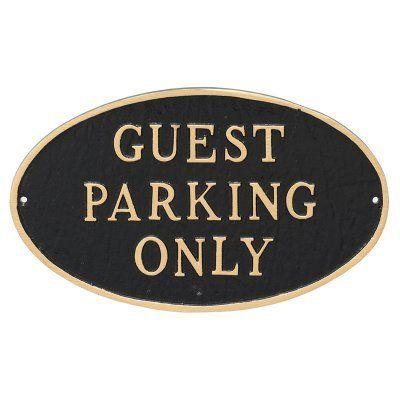 Montague Metal Products Guest Parking Only Oval Lawn Plaque - SP-60SM-BG-LS, Durable