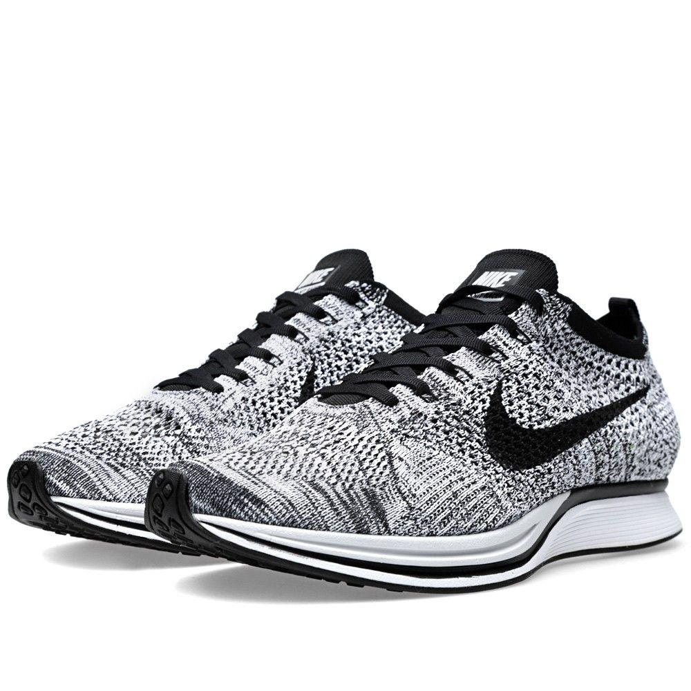 c01e82f33 black white nike flyknit racer shoes uk