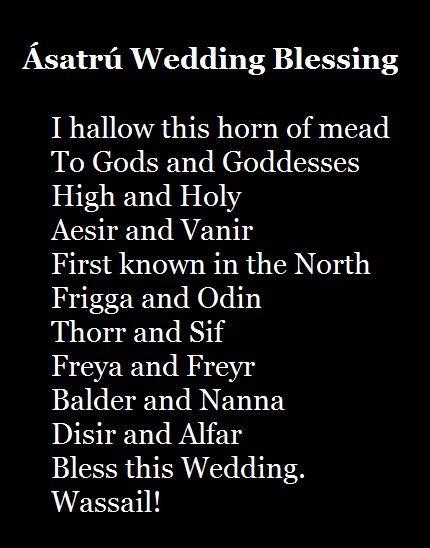 This Will Definitely Be Read At My Wedding Viking Pagan Ásatrú Blessing