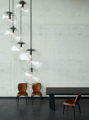 Lámpara de techo moderna (vidrio soplado) SELENE by Sandra Lindner - lamparas de techo modernas