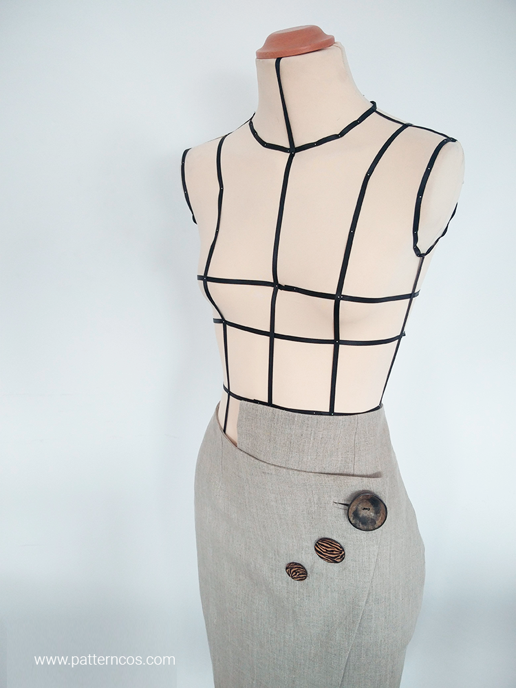 Falda de tubo cruzada con botones chulos | Moda y Tutoriales DIY ...