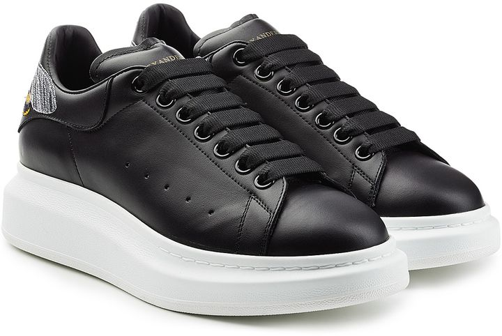 Alexander McQueen Leather Sneakers with Embroidery