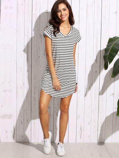 Ribbed Stripe Bodycon Dress | Forever 21 - 2000173341 ...