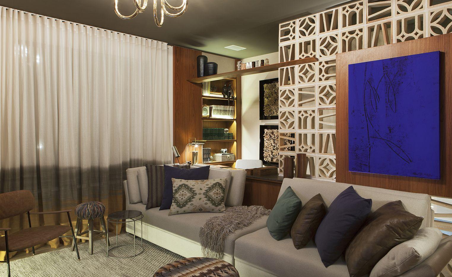 Sala da Familia do Apartamento Master - Casa Cor