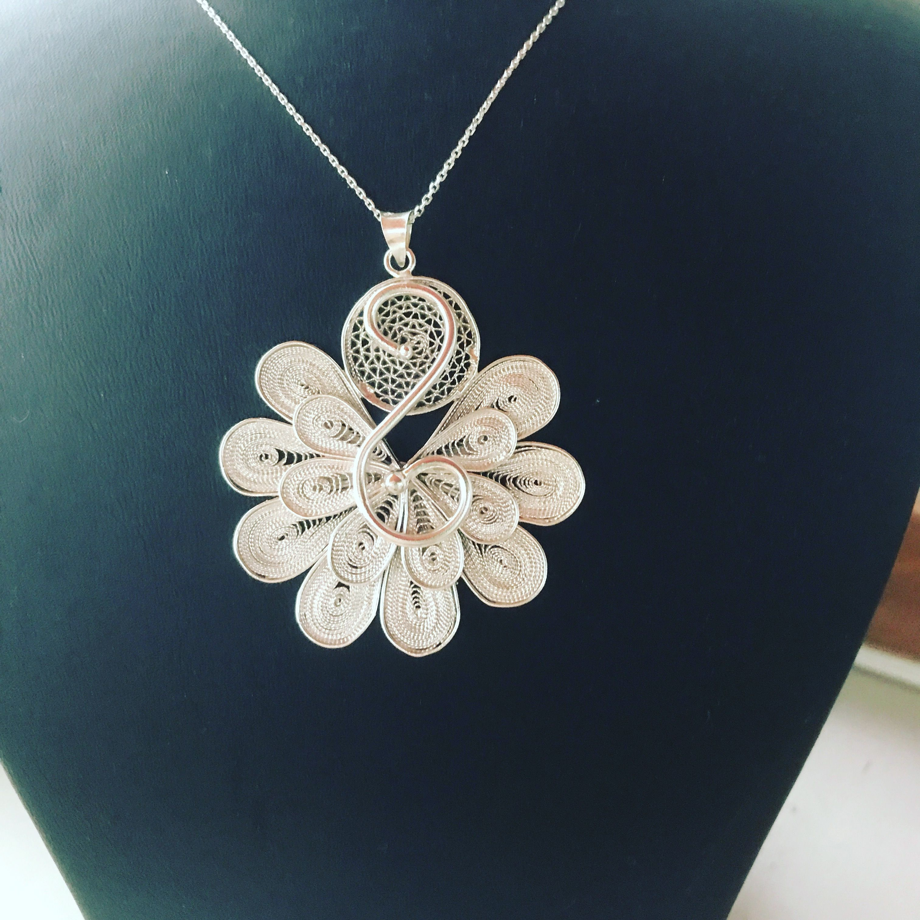 925 Sterling Silver Telkari Necklace