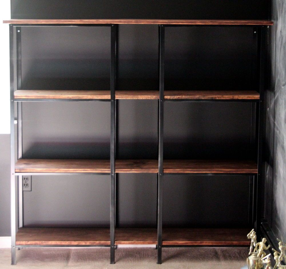 Muebles Metalicos Ikea Rustic Industrial Ikea Hack Bookcase