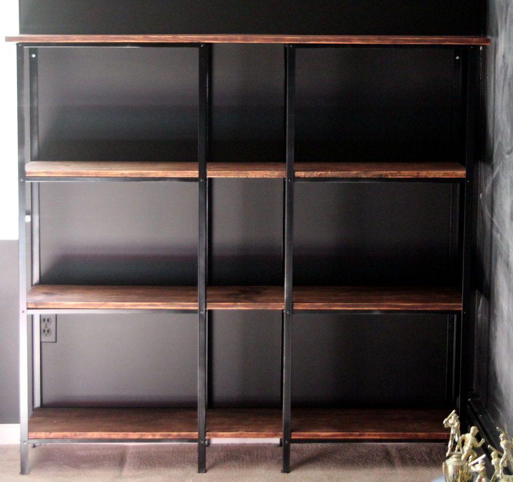 Rustic Industrial Ikea Hack Bookcase Ikea hack bookcase