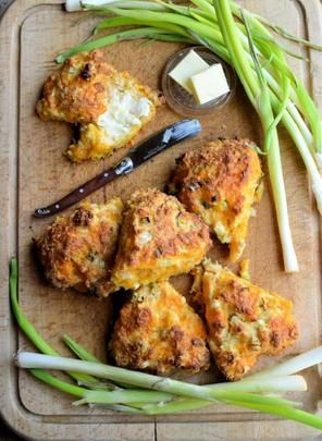 Scottish Cheddar Cheese and Spring Onion Tea-Time Scones. Photo by French Tart