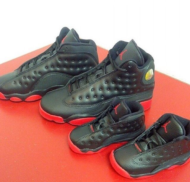 lower price with 8aedd 29232 Nike Air Jordan 13 Retro Toddler Sizes Dirty Bred Black Gym Red Size 4C-10C   Jordan  Athletic