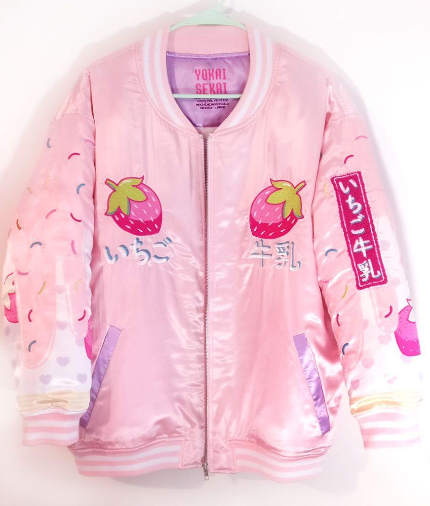 Strawberry Milk Jacket Sold Out Yokaisekai Kawaii Clothes Harajuku Fashion Korean Fashion
