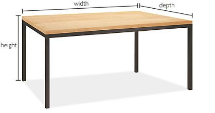 Room U0026 Board Parsons Thin Leg (or Regular Leg) Table By The Inch, Custom To  Our Size And Kidsu0027 Height, Several Wood And Other Top Finishes Available.