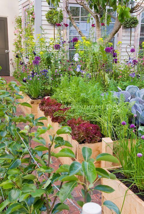 Edible Landscaping Backyard Vegetable Flower Garden 400 x 300