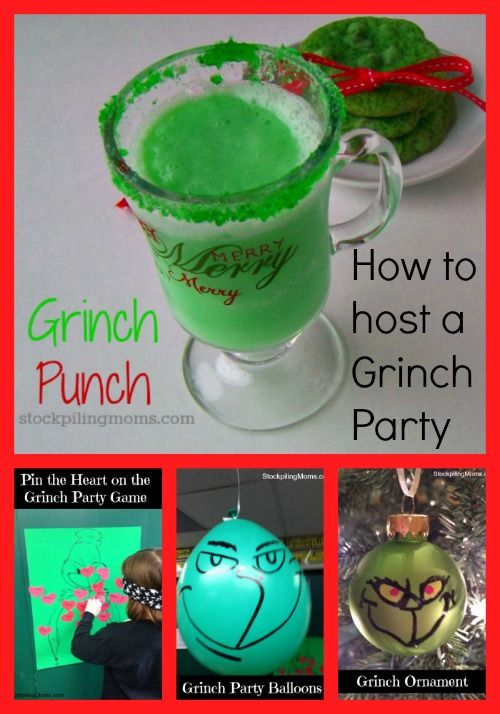 How the Grinch Stole Christmas Party holiday Pinterest Grinch