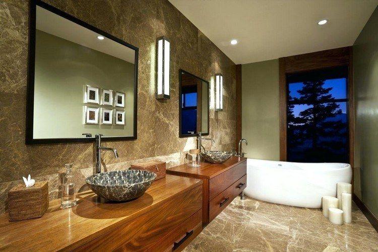 Salle de bain en pierre naturelle - 55 idées modernes et sophistiquées