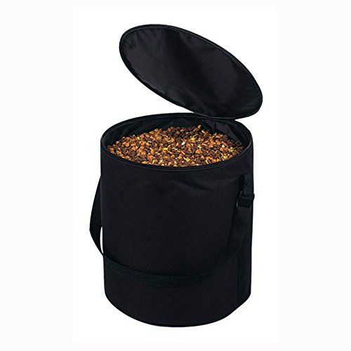 T Tocas Portable Dogs Cats Pet Food Storage Bag Bowl Special For Outdoor Travel Oxford Black Medium Max10kg Pet Food Storage Food Storage Bags Dog Food Recipes