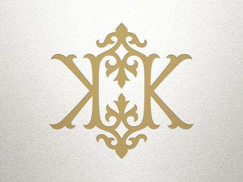 e1692b92 KK monogram | Shuler Studio Creations | Vintage monogram, Monogram ...