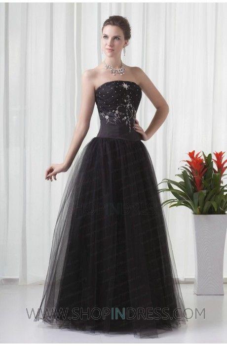 black ball gown dress | Ball Gown Dresses | Pinterest | Ball gown ...