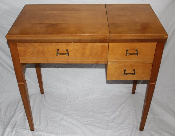 Sewing Machine cabinet, Vintage Kenmore Sewing Machine Cabinet Table Desk,  2 drawer sewing desk