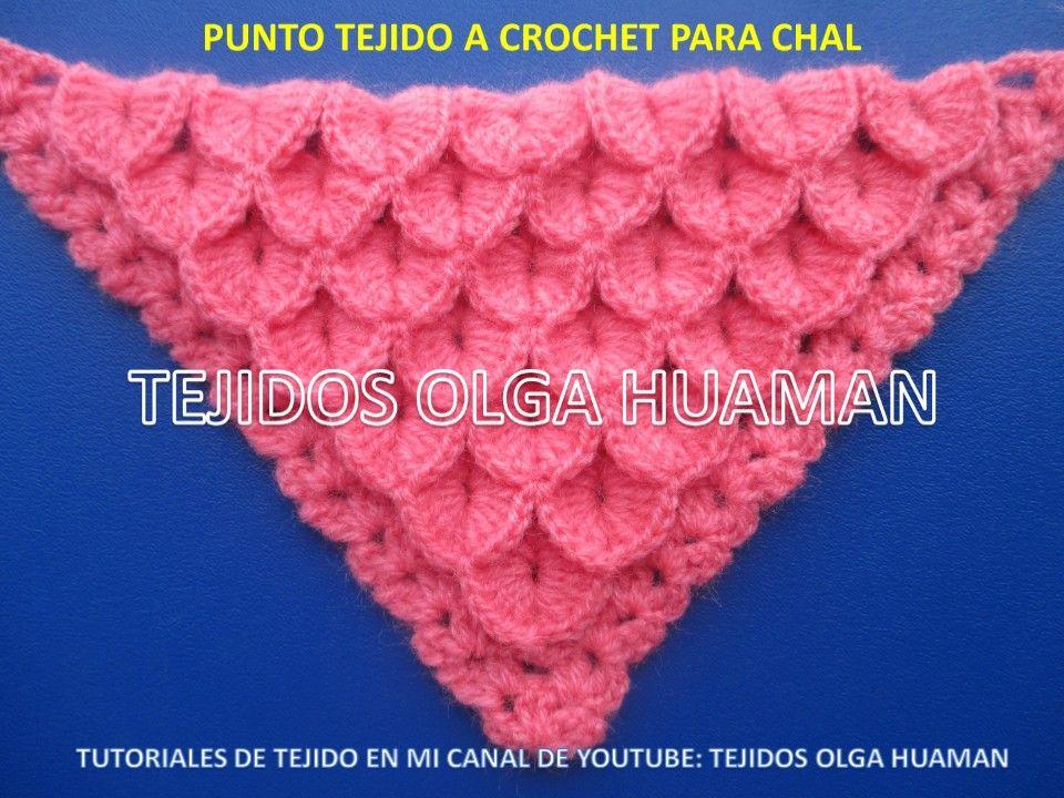 Pin von TEJIDOS OLGA HUAMAN auf puntos a crochet para chal | Pinterest