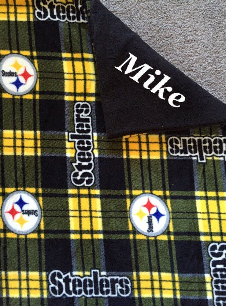 New to Sewdivine77 on Etsy: Pittsburgh Steelers double layered blanket/throw (43.00 USD)