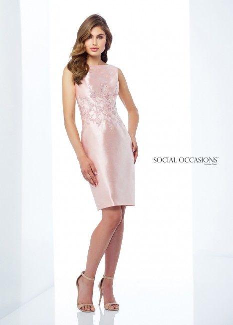 c76d5f6125ab Social Occasions by Mon Cheri 118872 Bateau-Neck Mother of Bride Short Dress