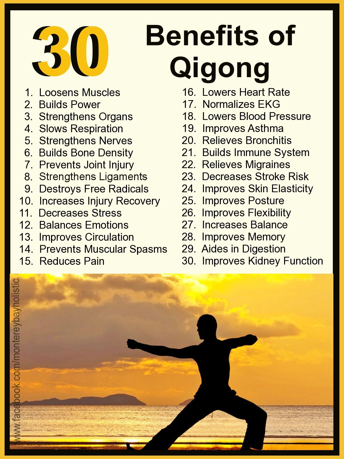 I want to take another Tai Chi class. 30 Benefits of Qigong and TaiChi