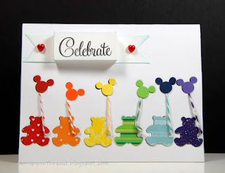 Teddy bears and mickey mouse balloons by Bev Tiemann.... absolutely ADORABLE!!!