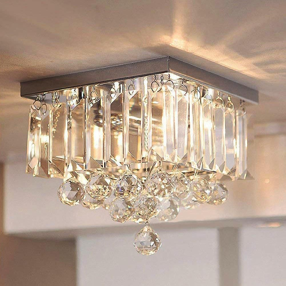 Modern Crystal Raindrop Ceiling Lighting In 2021 Crystal Chandelier Lighting Ceiling Lights Crystal Chandelier