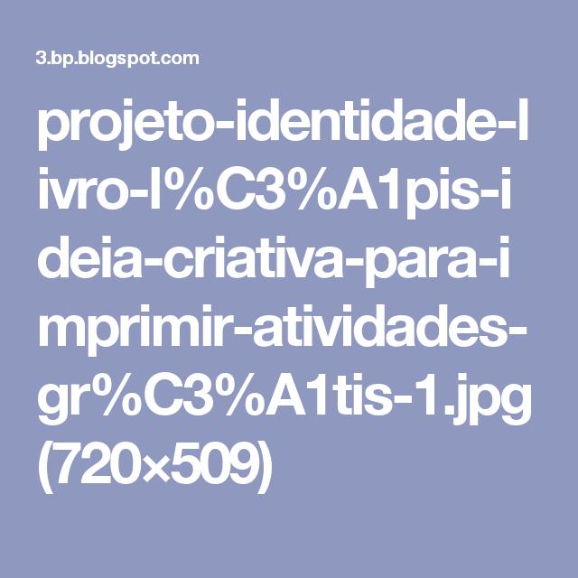 projeto identidade livro l c3 a1pis ideia criativa para imprimir