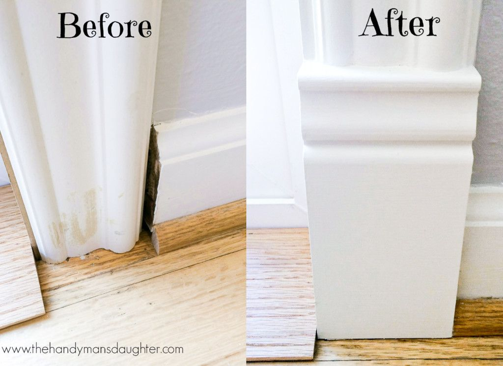 Add A Plinth Block To Door Trim For A Finished Look Diy