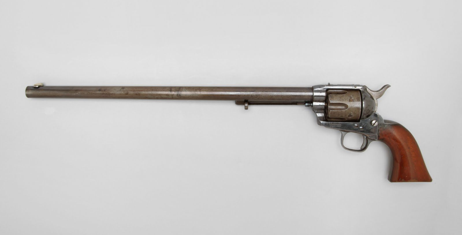 """""""Buntline Special"""" Single Action Army Model Revolver  1876; serial number 28802 - www.Rgrips.com"""