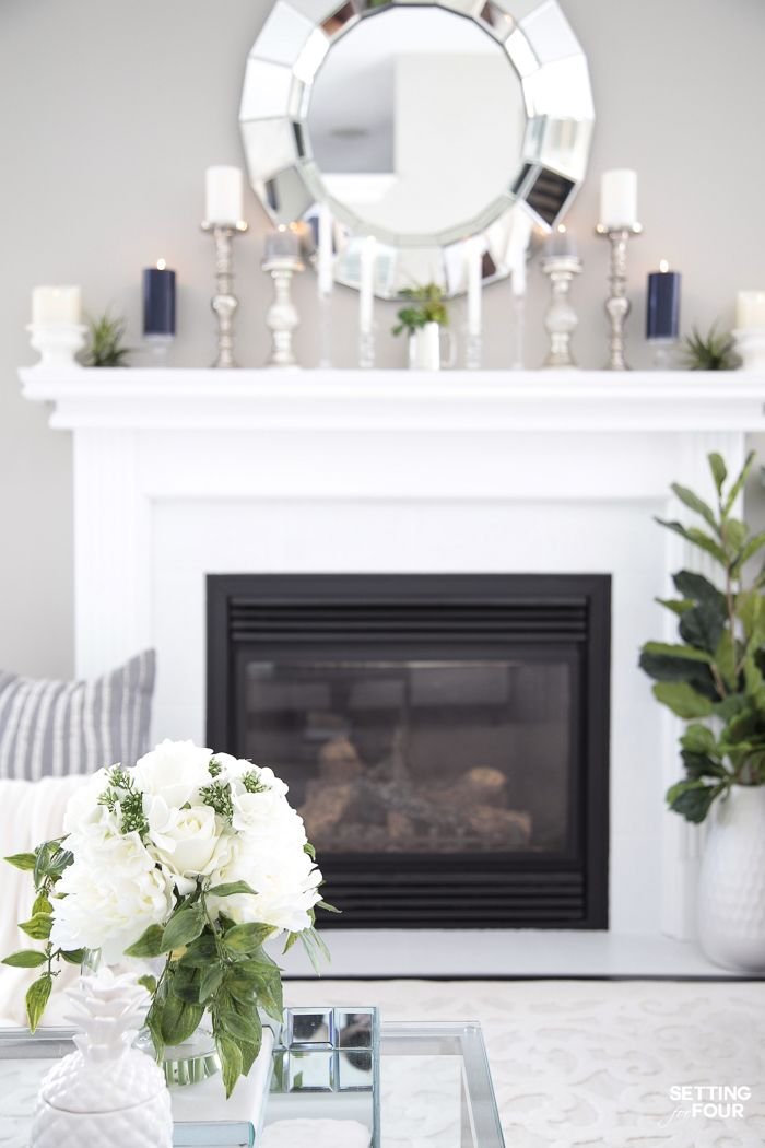 5 Elegant Summer Mantel Decor Ideas
