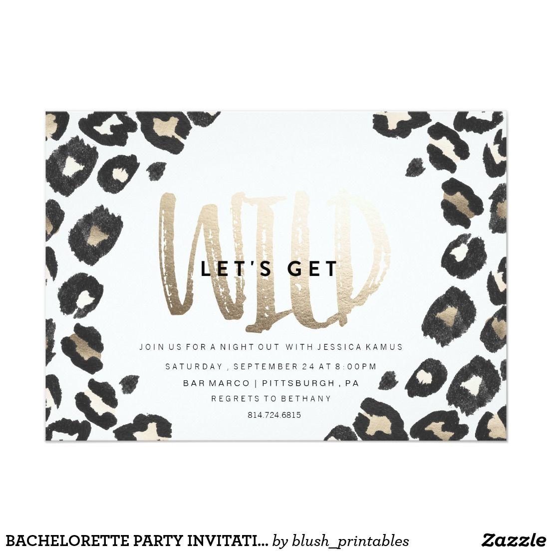 BACHELORETTE PARTY INVITATION // LEOPARD PRINT | { You\'re Invited ...