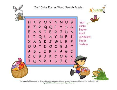 Holiday 5 Easter Word Search Protein Food Group Easter - Holiday Templates For Word