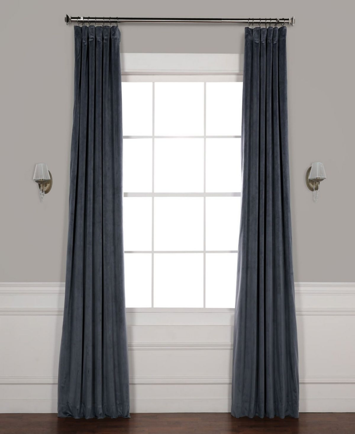 Exclusive Fabrics Furnishings Signature Blackout Velvet 50 X 120 Curtain Panel Reviews Window Treatments